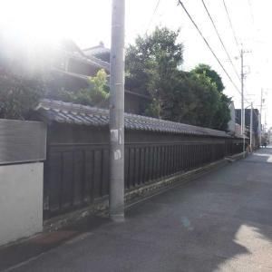 黒門町 屋敷の塀