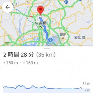 Google Mapの自転車経路機能&60min Jog
