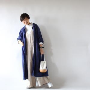 今日の研究★リネンオールインワンにそよかぜコートを合わせてみよう!