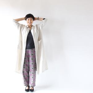 ブログ1000回目★おしゃれは続くよどこまでも!そよかぜコートと柄パンツの秋。