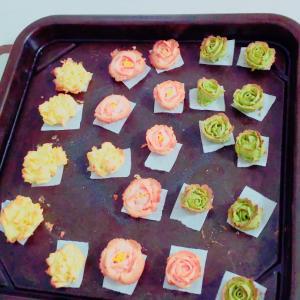 [レポ]お花絞りの練習に最適!あんフラワークッキー