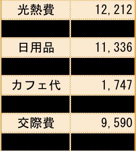 3月の家計簿公開。