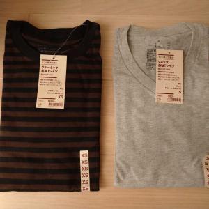 無印のインド綿天竺編みTシャツ