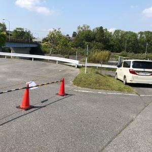 高滝ダムの駐車場を確認しに行った。