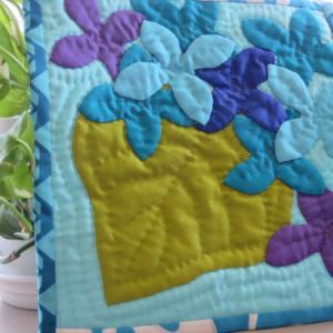 1点もの☆紫陽花のミニタペストリー