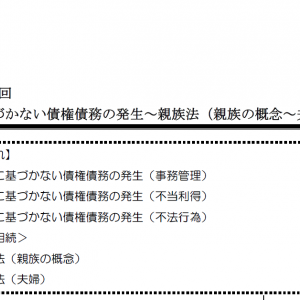 【レジュメハイライト】民法第15回