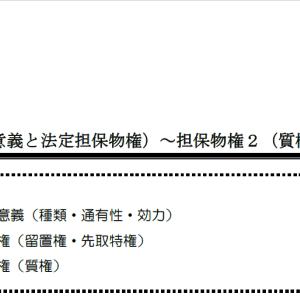 【レジュメハイライト】民法第7回