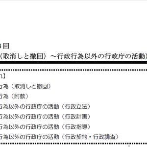 【レジュメハイライト】行政法第3回