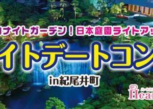 【11/10(日)】30代40代中心!大人世代で気兼ねなく♪幻想的ナイトガーデン!日本庭園ライト