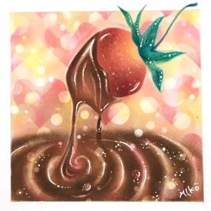 とろっとろの 【イチゴフォンデュ】チョコはビター?それともスィート?
