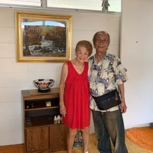ハワイの旅  7  マーガレットの家の私の絵