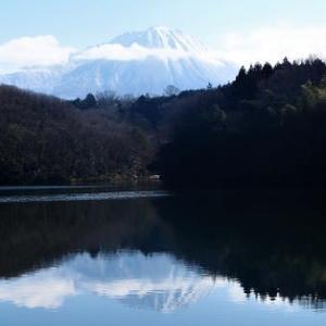 大寒の「逆さ大山」とスノーシュー