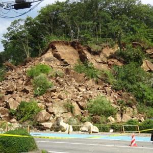 久保の磨崖仏が崩壊