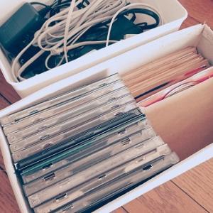 真夜中の片付け、CDとコード類を断捨離