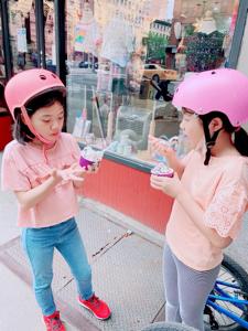 サイクリングとアイスクリーム