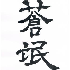 今日の漢字リクエスト2020-8  「蒼氓(そうぼう)」を2書体で書く