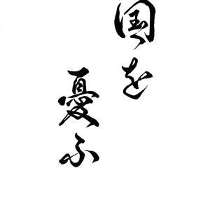 今日の漢字リクエスト2021-30「国を憂ふ」を 2書体で書く