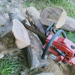 薪作り開始!