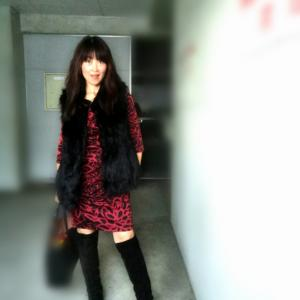 AND WITH KNEE HIGH BOOTS