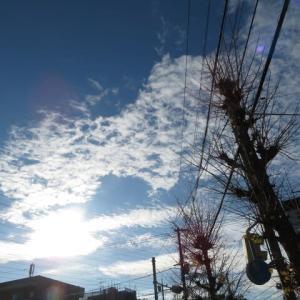 冬の始まり 空と雲 ②