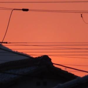 黄昏の西空