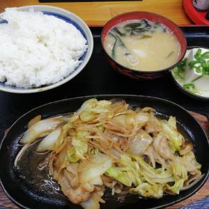 スタミナ焼き定食&インディアンカレー