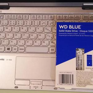 CF-RZ6入手 & SSD換装(1TB)