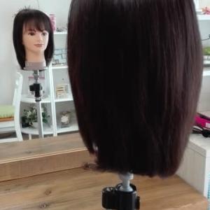 自然な髪質とカラー