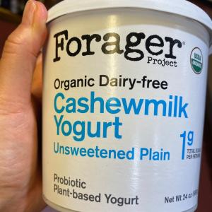 本日のおやつ乳製品でないヨーグルト