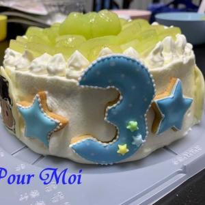 【お客様からのお写真】ケーキにオン