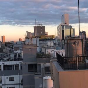 東京都心で朝を