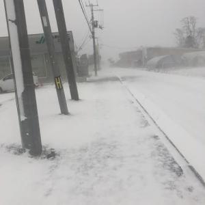 -7℃の吹雪です