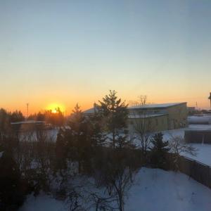 -11℃の陽の出です