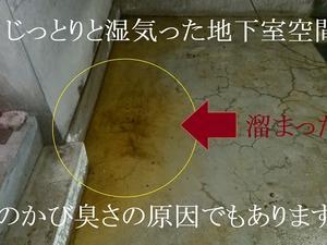 地下室湿気は24時間365日カライエで追い出す!