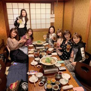 大阪中央卸売市場直営店 日本酒とおでんト18食堂 で鴨&はりはり鍋女子会