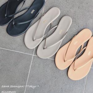 シンプル可愛い、足が疲れないビーチサンダル/TKEES