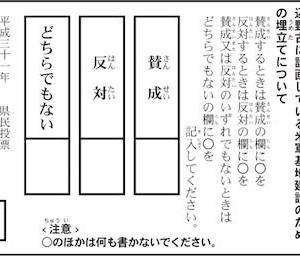 #290 沖縄県民投票・・・選択肢が少な過ぎる、あるいはピッタリこない。「あなたの思い」は何処に?