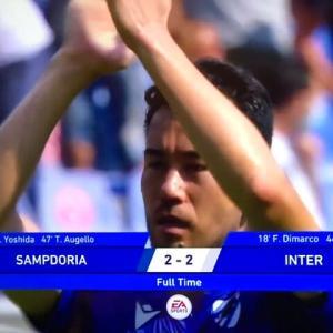 2021-22 SERIE A 第3節 SAMPDORIA 2-2 Inter 昨季覇者に堂々の引き分け