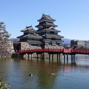 「松本城」梅を見に来ました。