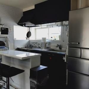 【白】ニトリのバーカウンターで1度で片付くスタイルに!そして新しい冷蔵庫到着!