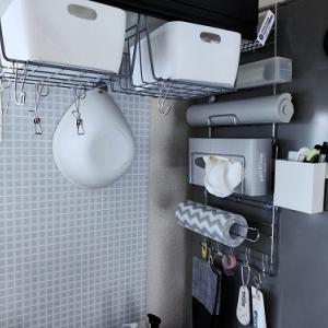 ニトリの収納で冷蔵庫壁面をがっつり使う