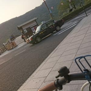 錦帯橋と夕陽と自転車☆