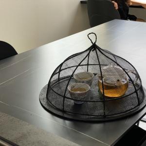 金木犀のお茶を飲む