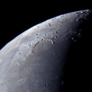 月面北部の拡大Ⅱ