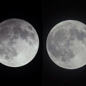 半影月食と満月