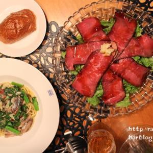 『オイルサーディンと菜の花のスパゲッティ』な夜ごはん。