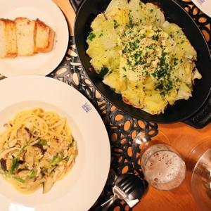 『鶏肉と椎茸のスパゲッティ』な夜ごはん。