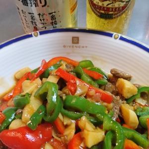 【へそ料理】青椒肉絲ちんぢゃおろーすー