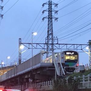【鉄道スケッチ】夕暮れの「スマイルトレイン」