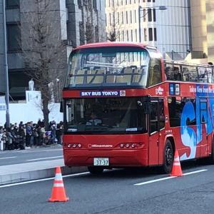 【バススケッチ】日比谷付近を走るスカイバス東京